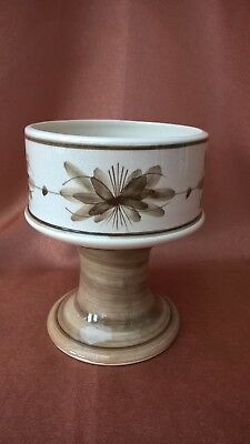 Jersey Pottery Pedestal Bowl Pot