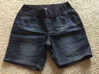 Women's Belly By Design Maternity Stretch Denim Jean Shorts Size Large (C26)