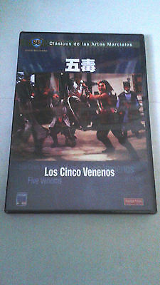 "Dvd ""los Cinco Venenos"" Precintado Sealed Shaw Brothers Chang Cheh"