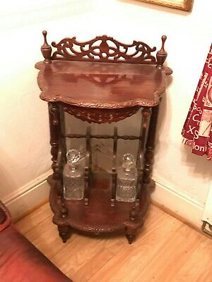 Lovely  Carved  Antique Decanter Table