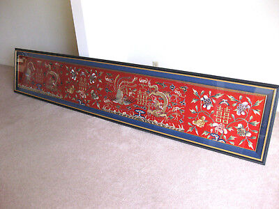Vintage Framed Chinese Embroidery - 19th Century