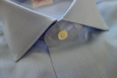 NWOT Brooks Brothers Non-Iron Blue Stripe Slim Fit Spread Collar MSRP $79.50