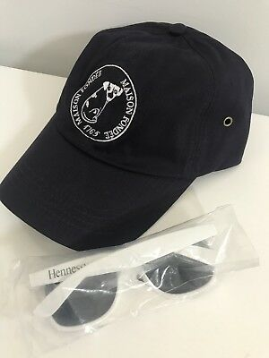 Hennessy Cognac Logo HaT OS Gemeos Size Any & Rare White Sunglasses VS vsop New