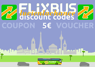 ➤4x5€ Coupon FlixBus - Shipping Max 1h! - Gutschein Voucher Bus Discount Code