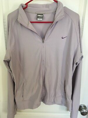 Womens Nike Fit Dry Light Jacket, Purple, XL