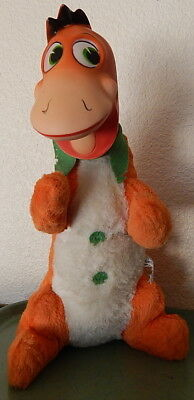 "1961 LARGE 18"" Dino the Dinosaur Plush & Vinyl Doll Flintstones Knickerbocker"