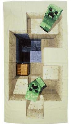"""Minecraft Towel, """" Defeat""""   Authentic  70Cm X 140Cm, New In Packaging, Licensed"""