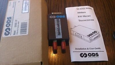 ods 10 mbps micro Transceiver mm/st  model lc4322 - st  free shipping !