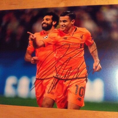 LIVERPOOL signed PHILIPPE COUTINHO 12x8 photo SIGNED -