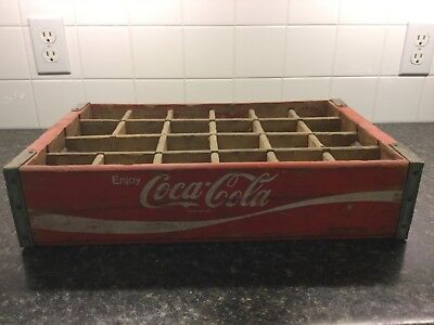 1972 Wooden Coca-Cola Carrier Crate Vintage Wood Coke Box Soda Pop Chattanooga