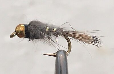 Bh Hares Ear Nymph Trout Fly Fishing Flies -12 Flies X Size #12
