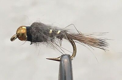 Bh Hares Ear Nymph Trout Fly Fishing Flies -12 Flies X Size #10