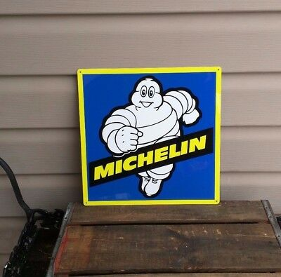 Michelin Man Tires Metal Sign Mechanic Repair Garage Shop 12x12 50125