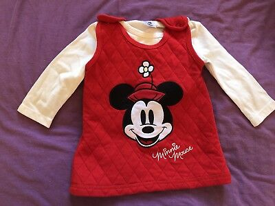 Baby Girls Minnie Mouse 3-6 Months Red Dress