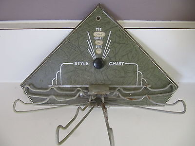 Vintage Chart Tie Rack Holder With Style Guide Art Deco Automic Groovy Retro