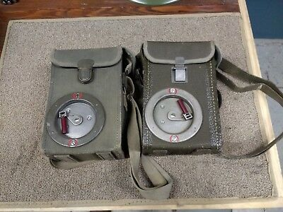 Swiss Army Field Telephone Set WORKING CONDITION uses D cells Mfg in Switzerland