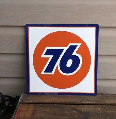 UNION 76 Metal Sign Service Station oil Advertisng Racing Gas Pump 12x12 50120