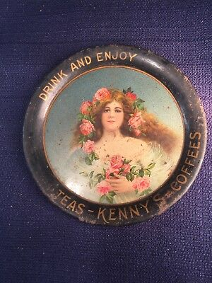 Antique Tip Tray Drink and Enjoy Teas - Kenny's - Coffees Advertising