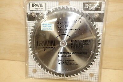 """Irwin Carbide Tipped Saw Blade  60 Tooth  10"""" (Cuts non-ferrous metals)"""