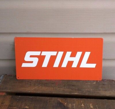 Stihl Metal Sign Parts and Service Chainsaw Advertising Garage Shop 6x12 50114