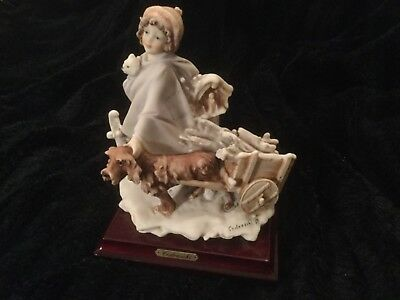 g armani figurine Rare Cedraschi Signed Limited 1986 Florence perfect
