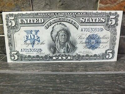 1899 $5 Silver Certificate (Chief)  Extra Fine  Xf 40+