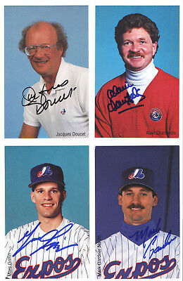 Montreal Expos Mlb Baseball 1992-95  Photo Postcard Jacques Doucet  Auto'd