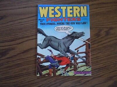""""""" WESTERN FIGHTERS """" COMIC - Vol.2 - No.4 - 1950"""