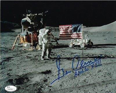 "Gene Cernan signed 8""x10"" Photograph Apollo 17 Astronaut JSA Authenticated"