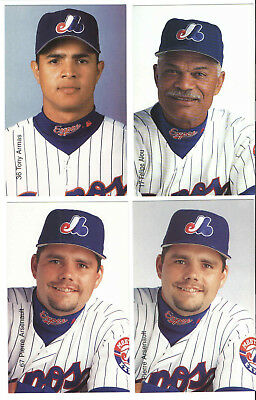 Montreal Expos Mlb Baseball 2000  Photo Postcards Pierre Arsenault 2 Different
