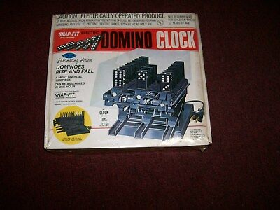 NIB Arrow Electric Domino Clock with Snap-Fit Easy Assembly Kit 677 RARE 1981