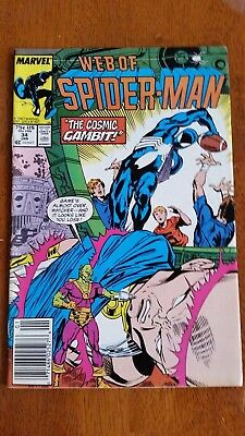 WEB OF SPIDER-MAN Comic Book. Jan 1987!  Marvel Comics. A Must See!