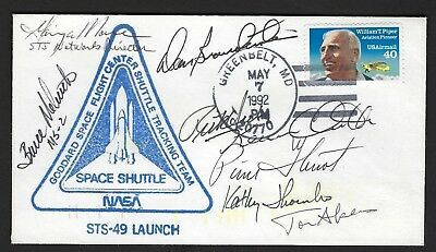 STS-49 full crew signed cover Melnick, Thornton, Thuot etc...