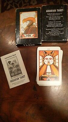 Vintage 1970 Aquarian Tarot Cards by David Palladini Complete Rare Deck