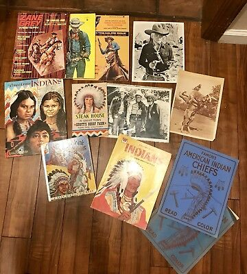 Vintage Lot Of Western Collectible Pics Magazines Books