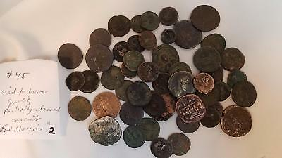 LOT 2: (45) ANCIENT COINS Mid to Lower Quality - Partially Cleaned - SOME SILVER
