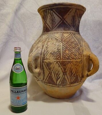 "Huge 20"" Ancient Repro Anatolian Turkey Greek Pottery Burial Cremation Urn Jar"