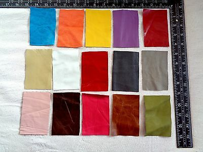 Brand New 15 piece GENUINE LEATHER SCRAPS, OFF CUTS for CRAFTS & HOBBIES -Lot A2