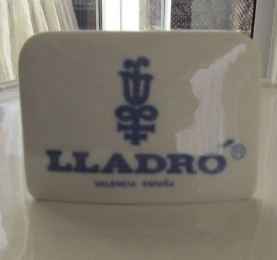 Lladro store display plaque, discontinued, rare, blue with trademark, Valenci