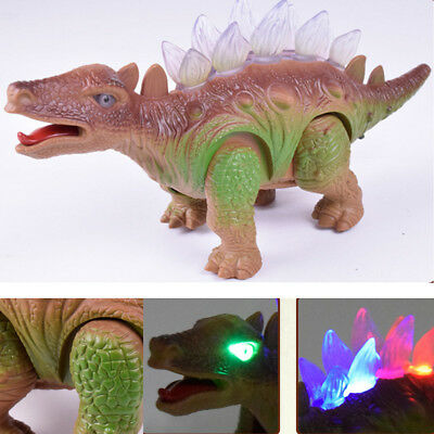 Light Up Dinosaur Remote Control Walking Robot Roaring Interactive Toy Gift EA