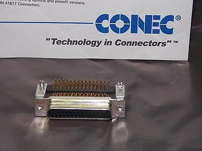 Conec 164C544914X Filter D-Sub Connector 44-Position Female Solder Pin Angled