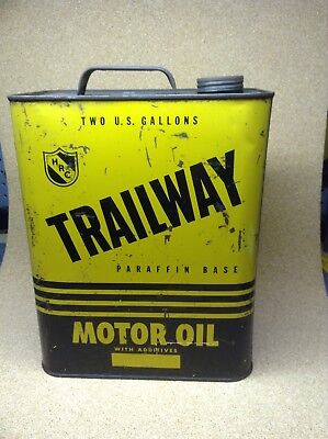 Vintage Trailway Two Gallon Oil Can