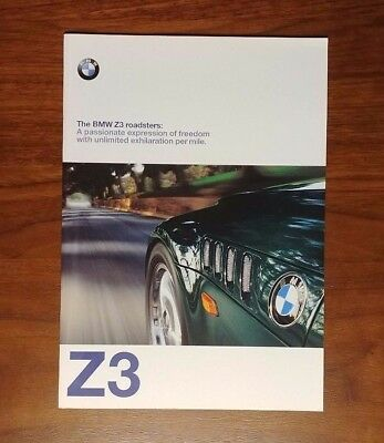 Bmw Z3 Brochure 1998 1.9 2.8 M Roadster E36 Collectible Advertising Convertible