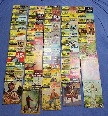 56 CLASSICS ILLUSTRATED COMIC BOOKS Vintage Lot of  56  #10-169 & Story of Jesus
