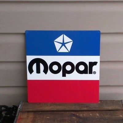 MOPAR Chrysler Metal Sign vintage logo Mechanic garage Shop 12x12 50106