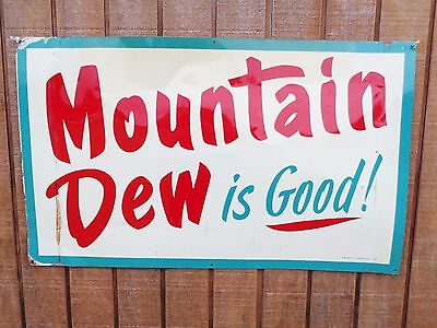 """Rare Mountain Dew Is Good Early 62 sign hillbilly pepsi """"reduced for CHRISTMAS"""""""