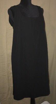 Mimi Maternity Black Lined Sleeveless Dress Sz Large
