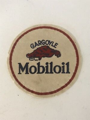 Rare Vintage Gargoyle Mobil Oil Jacket patch Amazing Piece Mobiloil 8in Diameter
