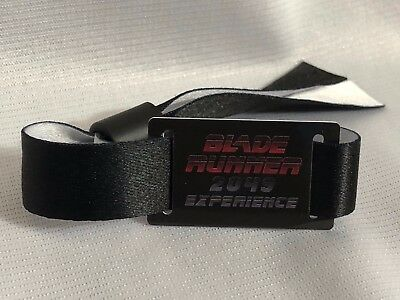 SDCC Blade Runner 2049 The Experience wrist band 2017 swag bracelet