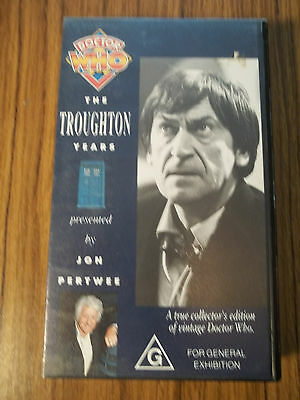 2nd Dr Doctor Who The Troughton Years VHS VGC Presented by Jon Pertwee Tardis